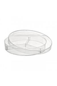 Plastikinės petri lėkštelės, 90 mm (su skyriais)