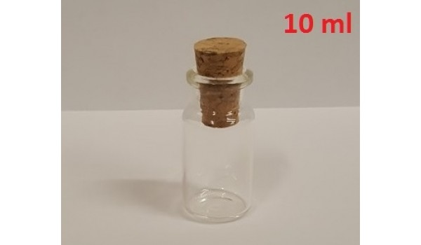 Buteliukas, skaidraus stiklo (su kamšteliu)